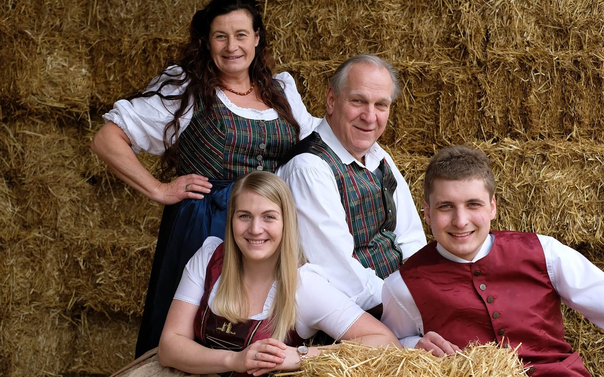 v.l. Heidelinde Jahner, Lisa Jahner, Ernst Jahner, Sebastian Zanker